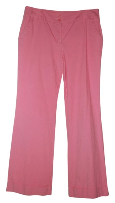 New York & Company Wide Leg Pants Pink