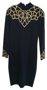 St. John St. John's Knit Embellished Long Sleeve Dress