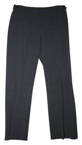 Emma James Trouser Pants Grey & Light Blue Plaid