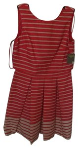 Taylor short dress Red Striped on Tradesy