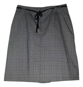 G.H. Bass & Co. Skirt Black/Grey/Light Blue Plaid