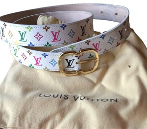 Louis Vuitton Louis Vuitton Logo Mutli Belt White