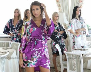 5 Brand New Unworn Robes/kimono - Perfect For Wedding Day With Bridesmaids!