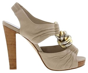 Calvin Klein Soft Leather Cream Sandals