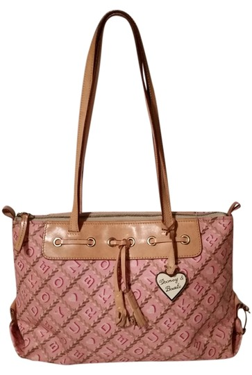 Preload https://item3.tradesy.com/images/dooney-and-bourke-light-pink-coated-canvas-and-leather-shoulder-bag-3242692-0-0.jpg?width=440&height=440