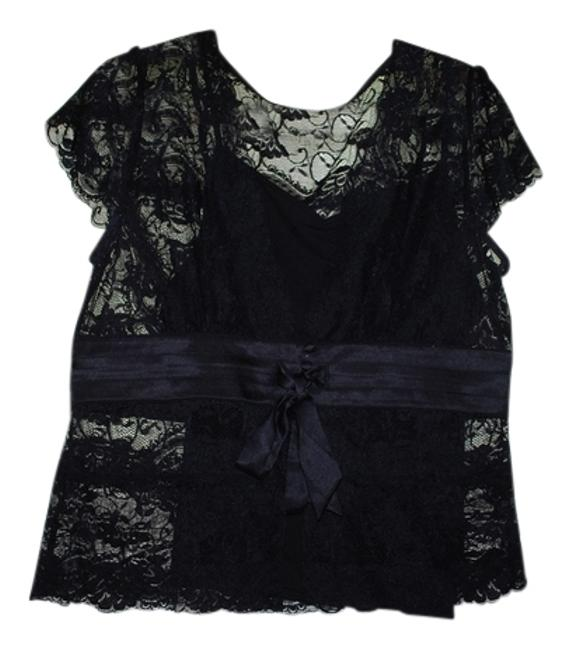 Apt. 9 Lace Top Black