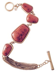Kenneth Cole Orange Stone & Gold-Tone Bracelet
