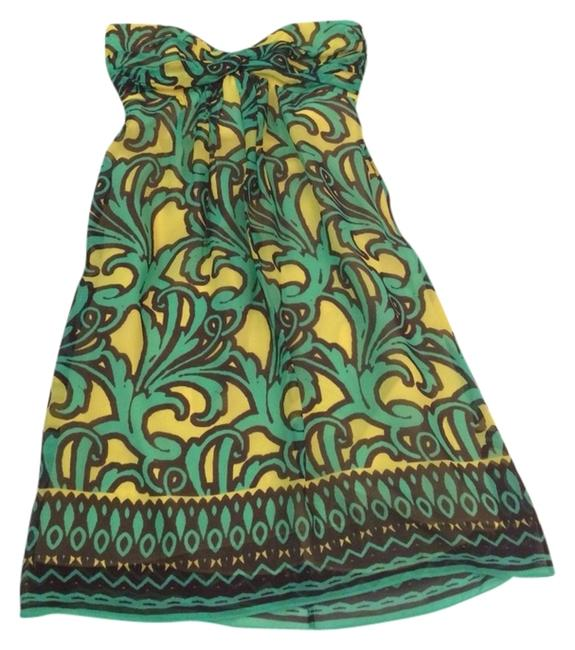 Preload https://item1.tradesy.com/images/milly-yellow-and-green-strapless-silk-print-knee-length-cocktail-dress-size-6-s-3242995-0-0.jpg?width=400&height=650