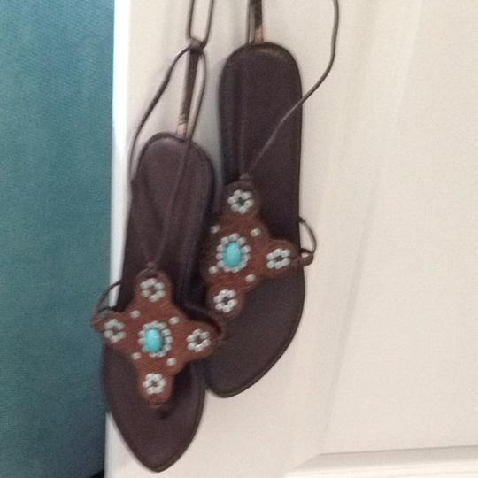 Impo Brown And Blue Sandals