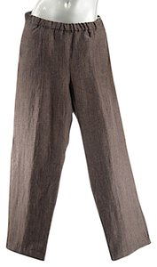 Eskandar Linen/wool Relaxed Pants Brown
