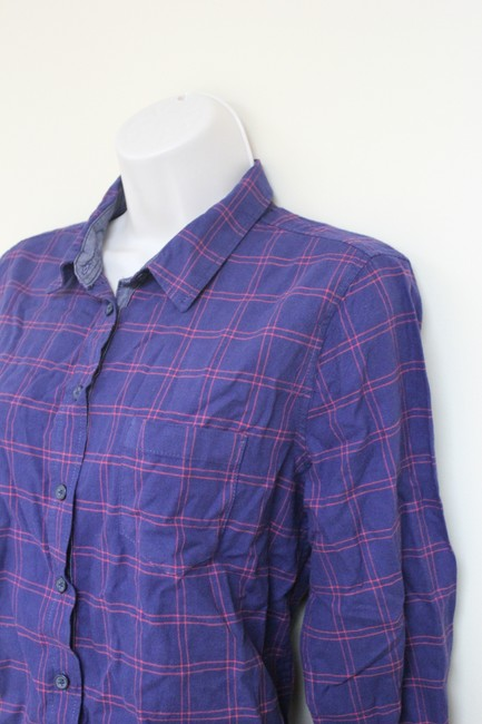 Joe Fresh Plaid Button Down Shirt Blue/Red