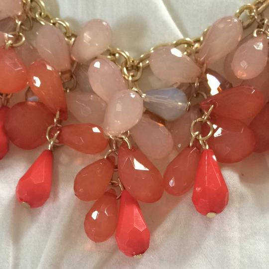 One wink Coral Statement Necklace