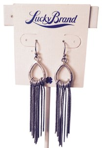 Lucky Brand Teardrop & Chain Dangle Earrings