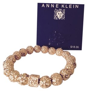 Anne Klein Gold-Tone Fire Ball Stretch Bracelet