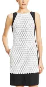 Adrianna Papell Sleeveless Scallop Lace Dress
