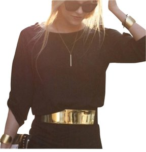 Good Looking Gold Fashion Belt. Metal With Stretching Rubber.