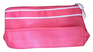 Lancome Pink Straw Cosmetic Bag