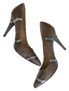 J.Crew Python Pattern Snakeskin Brown/Purple/White Pumps
