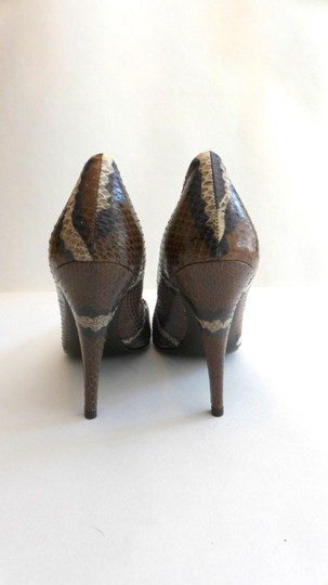 J.Crew Python Pattern Snakeskin Loeffler Randall Paul Brown/Purple/White Pumps