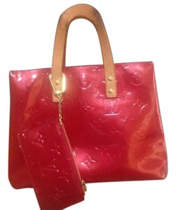 Louis Vuitton Vernis Lv Set Dust Satchel in Red
