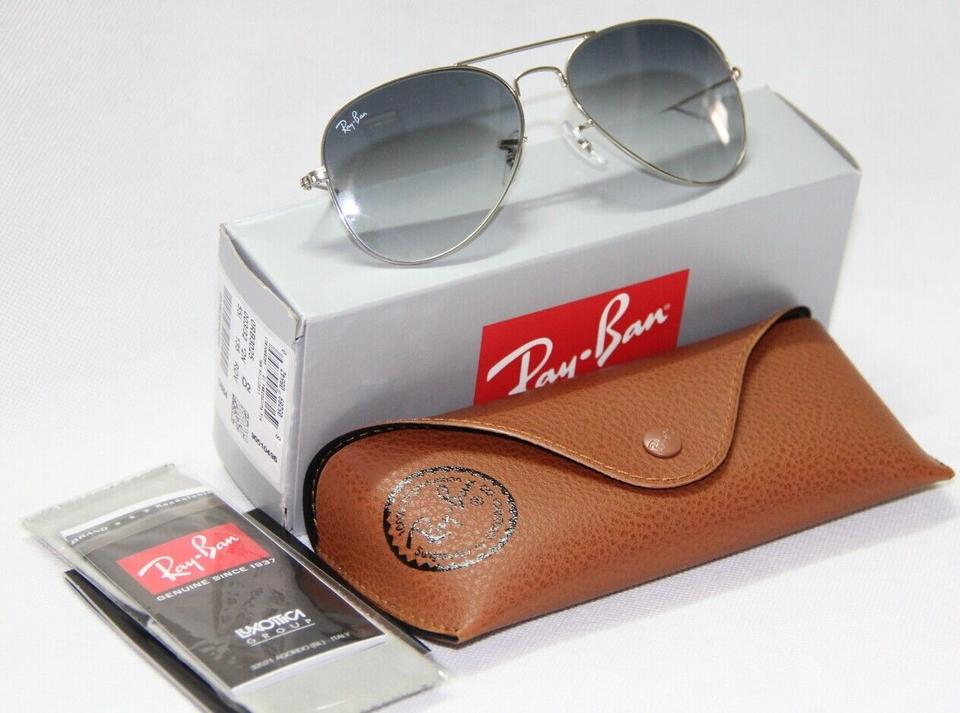 454ae9f562 ... Authentic Ray-Ban Aviator RB3025 003-32 Grey Gradient Lens With. 12