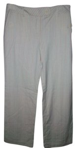 Ann Taylor LOFT Trouser Pants Cream Striped