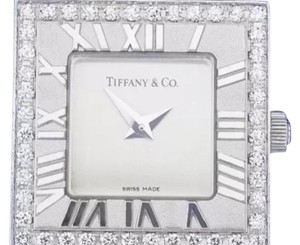 Tiffany & Co. Rare Tiffany & Co Woman's 18K White Gold And Diamond Watch W/ Tiffany Box