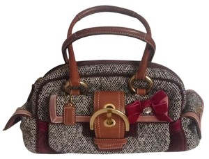 Coach Tweed Satchel Wristlet