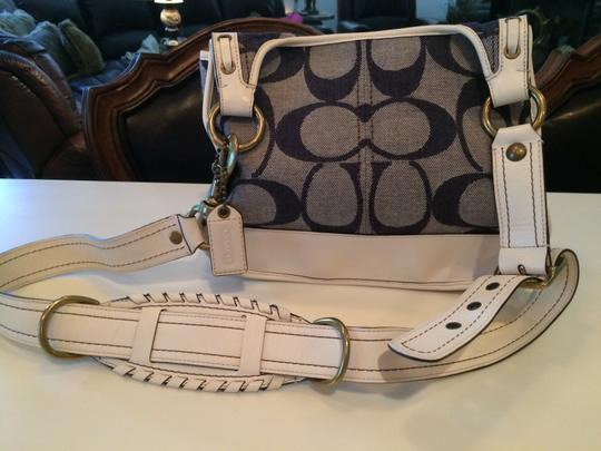 Coach White and navy blue Messenger Bag