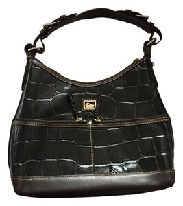 Dooney & Bourke Satchel in Green croc