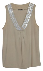 Magaschoni Embellished Mother Of Pearl Top PRALINE