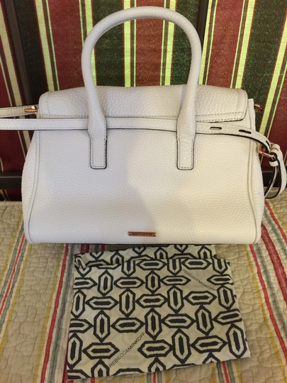 Rebecca Minkoff Satchel in White with Rose Gold Hardware