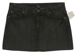 Lux 5 Pocket Style * Zip Fly * Frayed Hem * Cotton/spandex * Machine Washable Mini Skirt Black