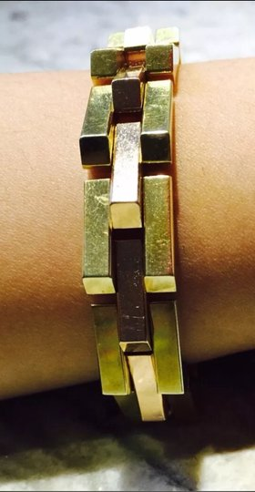 Tiffany & Co. Vintage BRACELET Modern Cubist Design with rose and Yellow Gold 14K