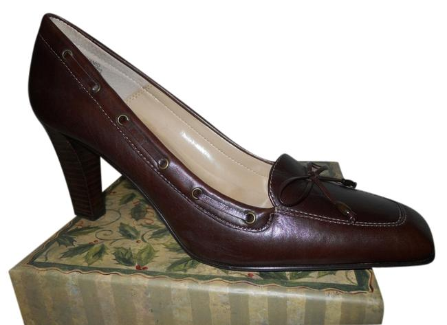 Item - Brown Leather Pumps Size US 8 Regular (M, B)