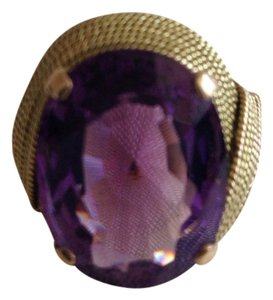 18K Gold Amethyst Ring.
