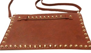 Other Studded Leatherette Wine Clutch
