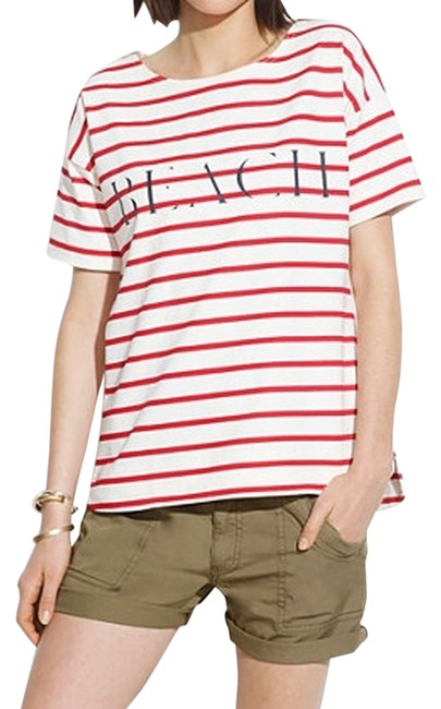 Madewell T Shirt Red and white