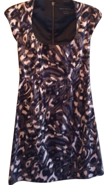 French Connection short dress Navy Blue/Taupe Multi on Tradesy