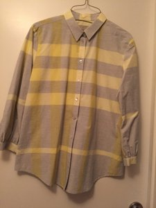 Burberry Top Pale gray & yellow
