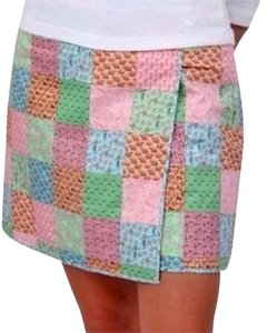 Vineyard Vines Hula Footprints Sailboats Mini Skirt Pink, Blue, Green