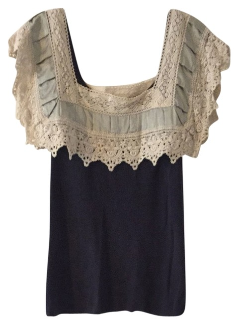 Knitted & Kmotted Cute Stylish Top blue
