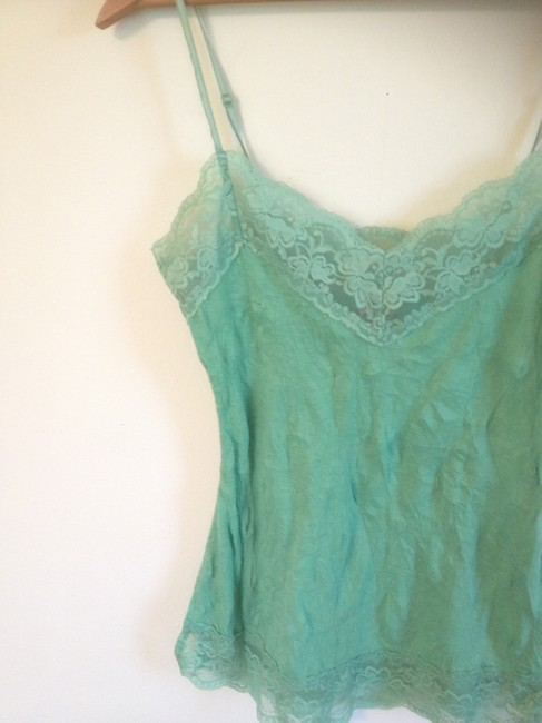 Other Lace Camisole Lace Trim Top Green lime