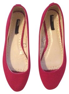 BDG Flannel Felt Hot Pink Autumn Pointy Toe Fushia Flats