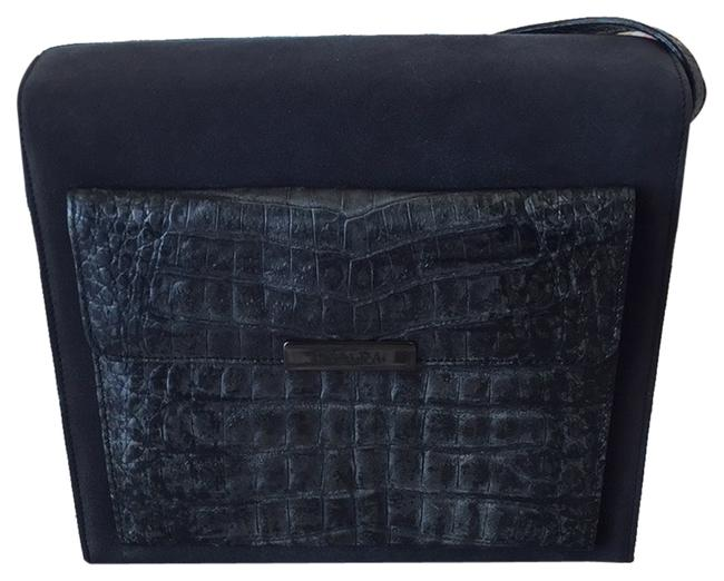 Item - Gray Leather/Suede Cross Body Bag