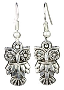owl earrings, owl jewelry accessories, animal jewelry, gift for teens.