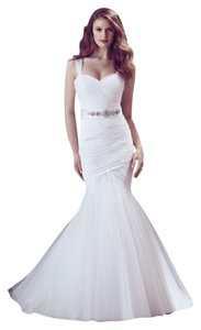 Mikaella Bridal Natural Tulle 1815 Feminine Dress Size 14 (L)