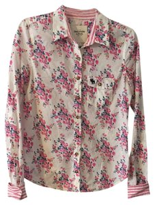 Abercrombie & Fitch Shirt Flower Floral Cotton Button Down Shirt