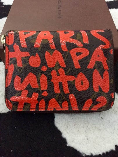 Louis Vuitton LV Stephen Sprouse Collection Orange Coin And Card Purse