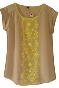 Express Top Tan/Bright yellow